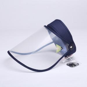 4 PCS Anti-Saliva Splash Anti-Spitting Anti-Brouillard Anti-Huile Capuchon De Protection Vide Top Hat Masque Bouclier Visage Amovible (Marine) SH401B1109-20