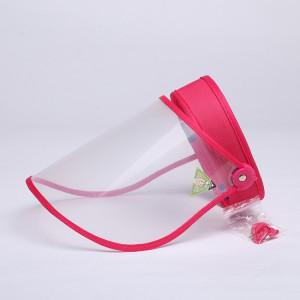 4 PCS Anti-Salive Splash Anti-Crachat Anti-Brouillard Anti-Huile Capuchon De Protection Vide Top Hat Masque Visière Amovible (Rose Rouge) SH401C1320-20