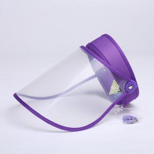 4 PCS Anti-Salive Splash Anti-Crachat Anti-Brouillard Anti-Huile Capuchon De Protection Vide Top Hat Masque Visière Amovible (Violet) SH401D976-20