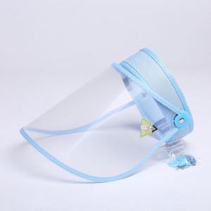 4 PCS Anti-Saliva Splash Anti-Spitting Anti-Brouillard Anti-Huile Capuchon De Protection Vide Top Hat Masque Visière Amovible (Bleu) SH401E1542-20