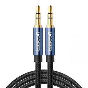 Câble audio Ugreen AV112 Câble auxiliaire ligne haut-parleur 3,5 mm, longueur: 0,5 m (bleu) SU601A442-20