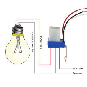 Commutateur automatique de capteur de commutateur de commande de commutateur de réverbère de photocellule (220V) SH301C552-20