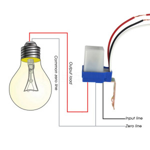 Commutateur automatique de capteur de commutateur de commande de commutateur de réverbère de photocellule (24V) SH301D1327-20
