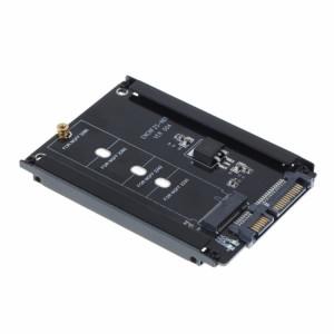 Boîtier en métal CYB + M Prise 2 M.2 NGFF (SATA) Adaptateur SSD vers 2.5 SATA pour disque dur SSD 2230/2242/2260 / 2280mm M2 NGFF SSD SH4356815-20