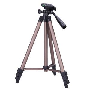 WT3130 Support de trépied pour appareil photo Protable avec culbuteur pour caméscope DSLR (Marron) SH301A904-20