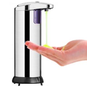 Distributeur de savon automatique à capteur infrarouge en acier inoxydable 250ML SH91071632-20