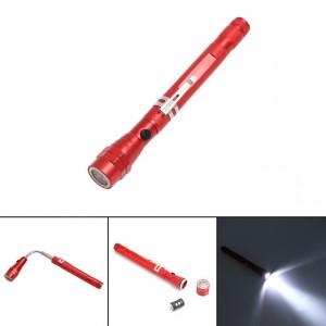 2 PCS 1W Aimant Flexible Camping Pêche Télescopique 360 Degrés Tête Lampe De Poche Torche Extérieure Magnétique Pick Up Tool Lampe (Rouge) SH601A1098-20