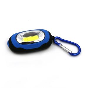 Portable mini porte-clés torche de poche lampe torche lampe torche LED avec 3 modes (bleu) SH801D1627-20