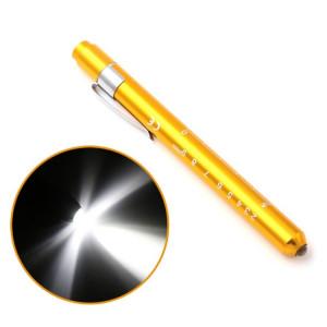 5 PCS Mini Poche Lampe Torche Lumière LED Lampe de poche Bouche Oreille Soins Inspection Lampe (Jaune) SH001B1251-20