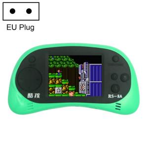 CoolBaby RS-8A 260 en 1 Console de jeu mini-console rétro avec jeux classiques avec écran couleur de 2,5 pouces, sortie AV, prise UE (verte) SH036G1963-20