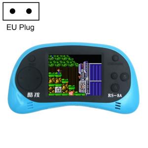 CoolBaby RS-8A 260 en 1 Console de jeu mini-console rétro avec jeux classiques avec écran couleur de 2,5 pouces, sortie AV, prise UE (bleue) SH036L1622-20