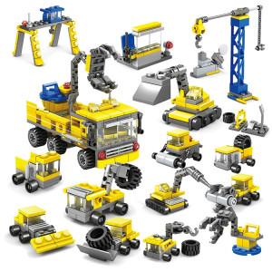 KAZI 16 en 1 définit bricolage génie de la construction véhicules pelles de modèle de construction modèle pelle brique compatible Ville de construction jouets, tranche d'âge: 6 ans ci-dessus SH1125691-20