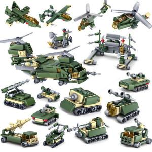 KAZI 16 in 1 Sets jouets éducatifs Block Building Building de l'Armée de terre, tranche d'âge: 6 ans et plus SH1126324-20