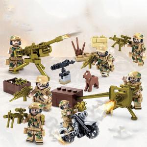 Soldats militaires de l'équipe de campagne de l'armée de terre KAZI Wolf pour soldats, jouets éducatifs, tranche d'âge: 6 ans et plus SH11281224-20