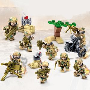 Soldats militaires de l'équipe de campagne de l'armée de terre KAZI Wolf pour soldats, jouets éducatifs, tranche d'âge: 6 ans et plus SH1129816-20
