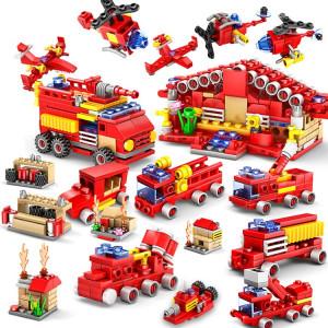 KAZI 16 en 1 Ensembles de construction pour casernes de pompiers Briques de construction éducatives pour pompier de ville compatible, Âge: 6 ans et plus SH1130807-20