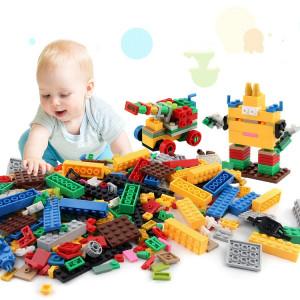 1000 dans 1 blocs de construction matériels ABS ABS de jouets intelligents avec 4 personnes aléatoires de jouet, livraison aléatoire de couleur SH21541371-20