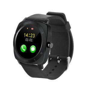 X5 1,33 pouces Full IPS Capacitif Ronde Écran Tactile Bluetooth 3.0 Silicone Sangle Smart Watch Téléphone Avec Micro Carte SIM Slot pour Tous Les Smartphones Android, FM Radio / Podomètre / Caméra à Distance / SX125B1260-20