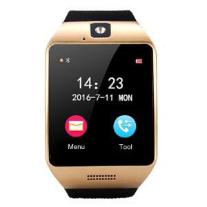 Q18S 1.54 pouces IPS écran MTK6260A Bluetooth 3.0 Smart Watch Téléphone, podomètre / Rappel sédentaire / Moniteur de sommeil / Anti-Perte / Caméra à distance / GSM / 0,3 M Caméra (Noir + Or) SQ41BJ1035-20