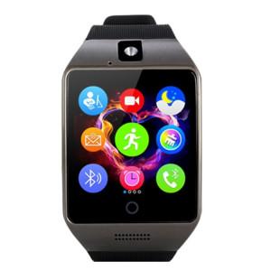 Q18S 1.54 pouces IPS écran MTK6260A Bluetooth 3.0 Smart Watch Téléphone, podomètre / Rappel sédentaire / Moniteur de sommeil / Anti-Perte / Caméra à distance / GSM / 0,3 M Caméra (Noir + Gris) SQ241H59-20