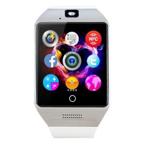 Q18S 1.54 pouces IPS écran MTK6260A Bluetooth 3.0 Smart Watch Téléphone, podomètre / Rappel sédentaire / Moniteur de sommeil / Anti-Perte / Caméra à distance / GSM / 0,3 M Caméra (Blanc + Argent) SQ41WS1918-20