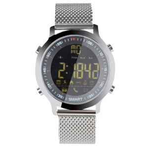 EX18 Smart montre de sport FSTN Plein écran Cadran lumineux Bracelet en acier inoxydable, étapes de soutien comptage / Calorie brûlé / Date du calendrier / Bluetooth 4.0 / Rappel d'appels entrants / Rappel de SH049S1453-20