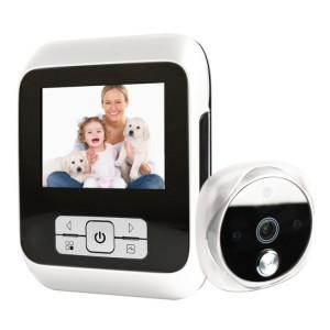 M530 3.0 pouces TFT affichage 3.0MP caméra vidéo numérique visionneuse de porte, carte de TF de soutien (32 Go Max) et vision nocturne infrarouge (blanc) SM020W942-20