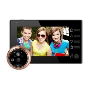 M4300D 4,3 pouces TFT écran couleur 3.0MP caméra de sécurité vidéo intelligente sonnette, carte de TF de soutien (32 Go Max) et vision nocturne et détection de mouvement (noir) SM024B1414-20