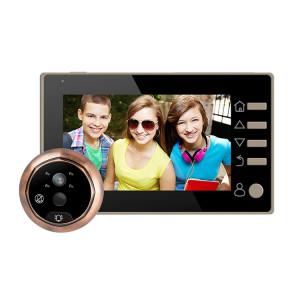 M4300D 4,3 pouces TFT écran couleur 3.0MP caméra de sécurité vidéo intelligente sonnette, carte de TF de soutien (32 Go Max) et vision nocturne et détection de mouvement (or) SM024J1232-20