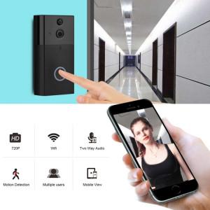 Caméra de sécurité VESAFE VS-A5 HD 720P Interphone de sonnette vidéo WiFi intelligente, carte de support TF et application de détection de vision nocturne et infrarouge infrarouge pour IOS et Android (avec Ding Dong / SH028B931-20