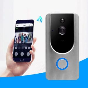 Caméra de sécurité VESAFE Home VS-M3 HD 720P Intercom de sonnette vidéo Smart WiFi, carte de soutien TF et vision nocturne et application de détection PIR pour IOS et Android (gris) SH030H1844-20