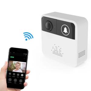 VESAFE Home VS-A10 HD 720P Caméra de Sécurité Smart WiFi Vidéo Music Ring Sonnette, Support Carte TF & Vision Nocturne pour IOS et Android (Blanc) SH031W1705-20