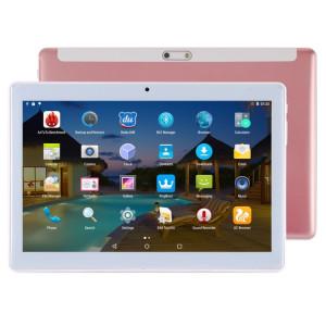 Tablette d'appel téléphonique 4G, 10,1 pouces, 2 Go + 32 Go, Android 7.0 MTK6592 Octa Core 1.3GHz, double SIM, GPS, OTG, avec étui en cuir (or rose) ST49RG1926-20