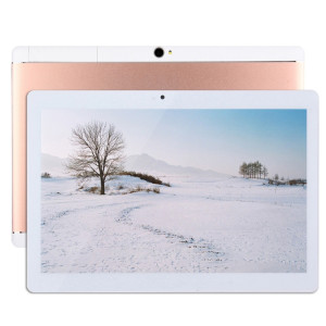 Tablet PC 4G Appel téléphonique, 10,1 pouces, 2 Go + 32 Go, Android 7.0 MTK6592 Octa Core 1.3GHz double carte SIM, WiFi, GPS, BT, OTG, avec étui en cuir (or rose) ST50RG1420-20