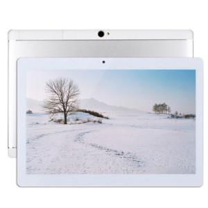 Appel Tablet PC 4G, 10,1 pouces, 2 Go + 32 Go, Android 7.0 MTK6592 Octa Core 1,3 GHz Double SIM, WiFi, GPS, BT, OTG, avec étui en cuir (Argent) SA650S1738-20