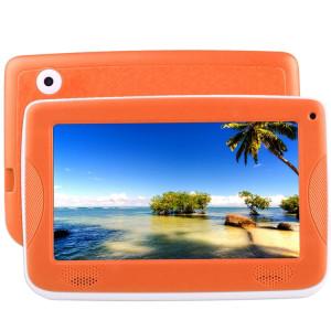 Tablette d'éducation pour enfants Astar, 7.0 pouces, 512 Mo + 4 Go, Android 4.4 Allwinner A33 Quad Core, avec étui en silicone (orange) ST800E1391-20