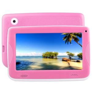 Tablette d'éducation pour enfants Astar, 7.0 pouces, 512 Mo + 4 Go, Android 4.4 Allwinner A33 Quad Core, avec étui en silicone (rose) ST800F249-20