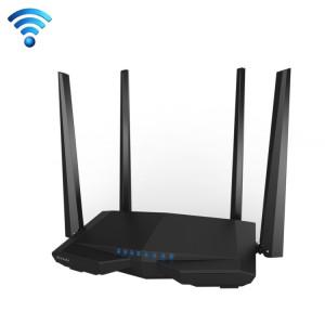 Tenda AC6 AC1200 Smart Routeur Sans Fil Dual-Band 5 GHz 867 Mbps + 2.4 GHz 300 Mbps WiFi Routeur avec 4 * 5dBi Antennes Externes (Noir) ST050B105-20