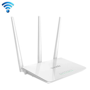 Tenda F3 Wireless 2.4GHz 300Mbps routeur WiFi avec 3 * 5dBi Antennes externes (blanc) ST052W1091-20