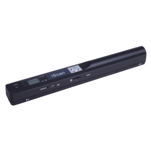 iScan01 Portable Document Portable HandHeld Scanner avec affichage à LED, A4 Contact Image Sensor, support 900DPI / 600DPI / 300DPI / PDF / JPG / TF (noir) SI001B0-20