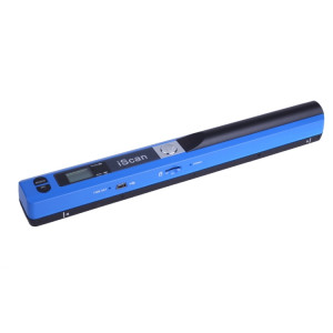 iScan01 Portable Document Portable HandHeld Scanner avec écran LED, A4 Contact Image Sensor, Support 900DPI / 600DPI / 300DPI / PDF / JPG / TF (Bleu) SI001L2-20