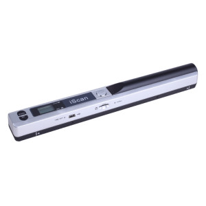 iScan01 Portable Document Portable HandHeld Scanner avec écran LED, A4 Contact Image Sensor, Support 900DPI / 600DPI / 300DPI / PDF / JPG / TF (Argent) SI001S0-20