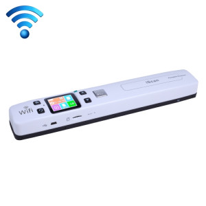 iScan02 WiFi Double Portable Mobile Document Scanner portatif avec écran LED, support 1050DPI / 600DPI / 300DPI / PDF / JPG / TF (blanc) SI003W4-20