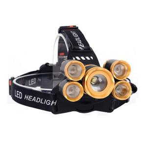 YWXLight Lampe frontale à focale réglable avec lumière rechargeable 30W à 4 modes, blanc froid SY3746652-20