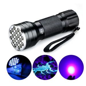 YWXLight UV 21 LED 395NM Ultra Violet Torche LED Lampe de Poche Lampe Détecteur de Lumière pour Chien Urine Pet Stains SY5373637-20