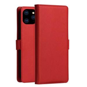 Etui à rabat horizontal en cuir PC + PU série MILO DZGOGO pour iPhone 11 Pro Max, avec support & fente pour carte & porte-monnaie (rouge) SD275R1097-20