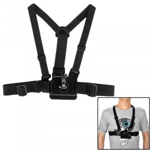 ST-25 Coffre à corps réglable Bracelet à courroie avec harnais Bracelet à vis pour GoPro Hero 4 / 3+ / 3/2/1 (Noir) SS00132-20