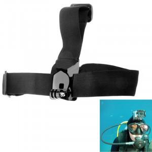 Ceinture à tête élastique réglable anti-dérapant ST-24 pour GoPro Hero 4/3 + / 3/2/1 (Noir) SC00122-20