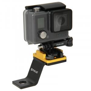 Support de support de moto métallique fixe PULUZ pour GoPro HERO5 / 4/3 + / 3/2/1 (Gold) SS171J0-20