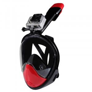 Neopine Gen 2ème Adultes et Équipement de plongée de jeunes Full Face Design masque de plongée pour GoPro HERO4 / 3 + / 3/2/1, M Size (Black) SN324B1-20